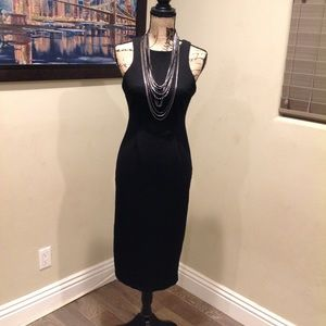 Black Ribbed Dress by Metaphor